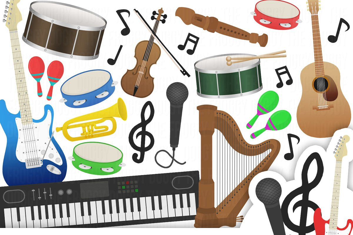 Musical Instruments Cliparts.