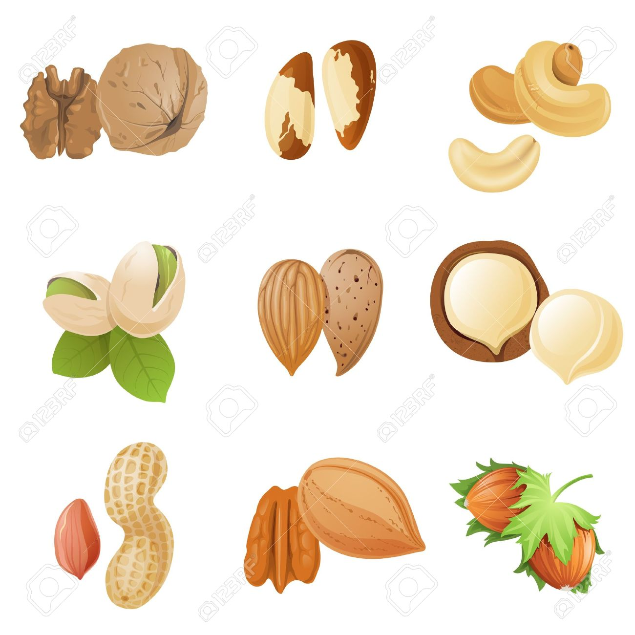Showing post & media for Cartoon mixed nuts clip art.