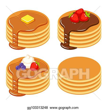 Pancakes clipart plain, Pancakes plain Transparent FREE for.