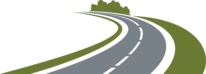 Winding Country Road Clipart.