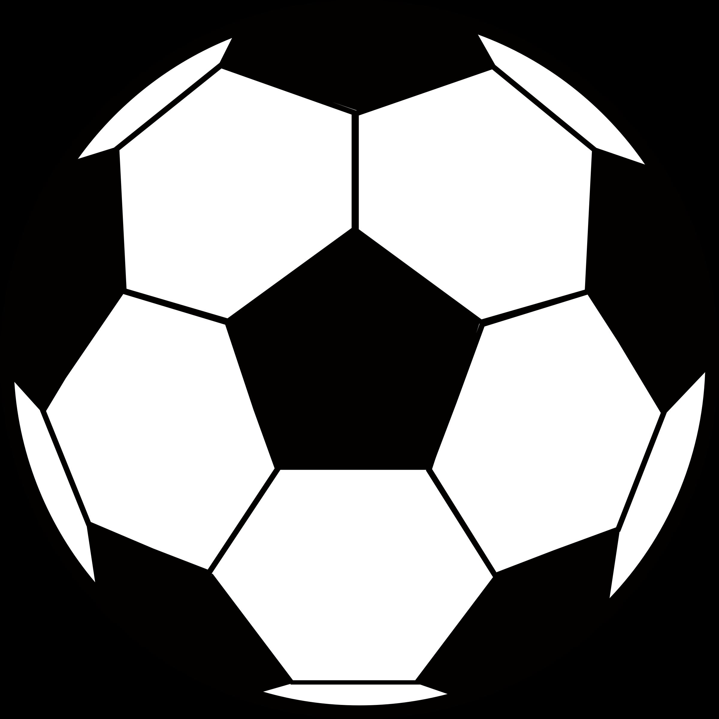 HD Soccer Ball Clipart Outline.