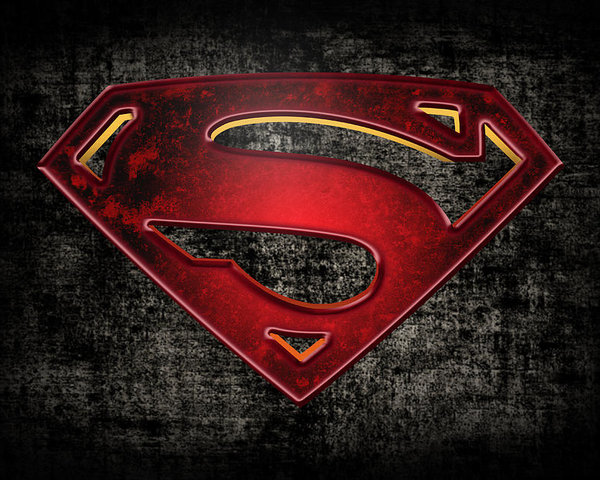 Superman Logo Digital Artwork Poster.