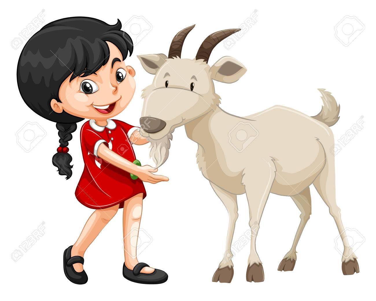 Female clipart goat.