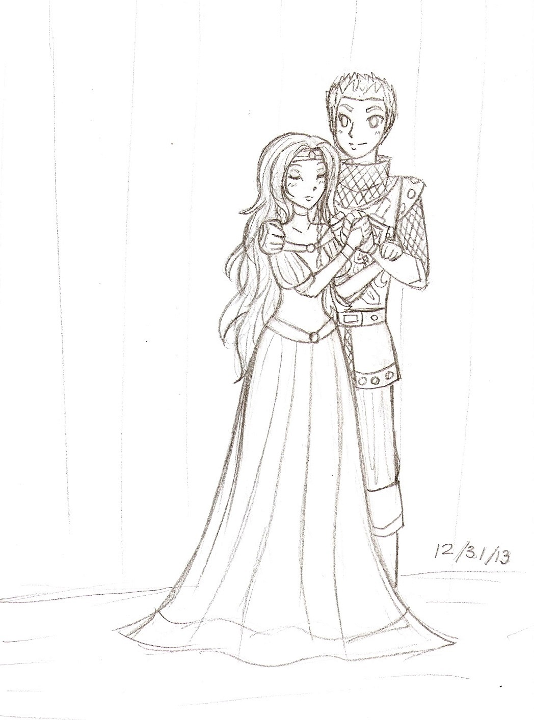Royal couple lineart.