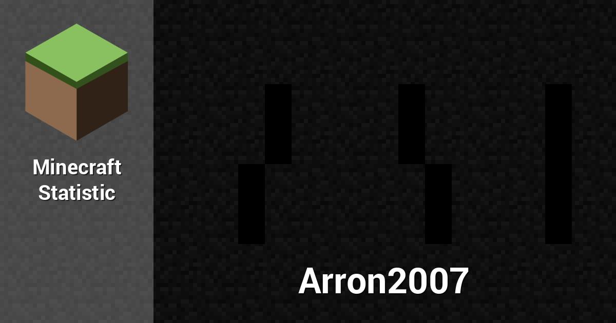 Arron2007 — Minecraft Player.
