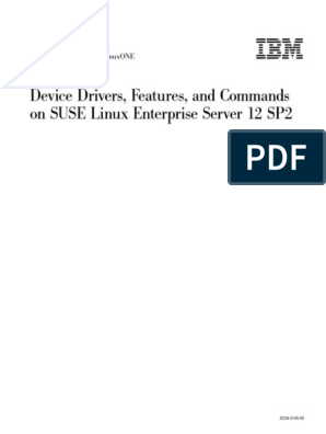 IBM SUSE 12 SP2 Device Commands.