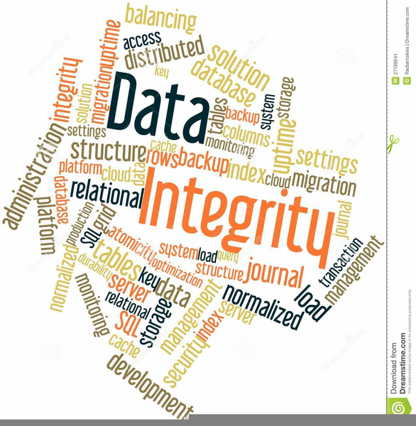 Data Integrity Clipart.