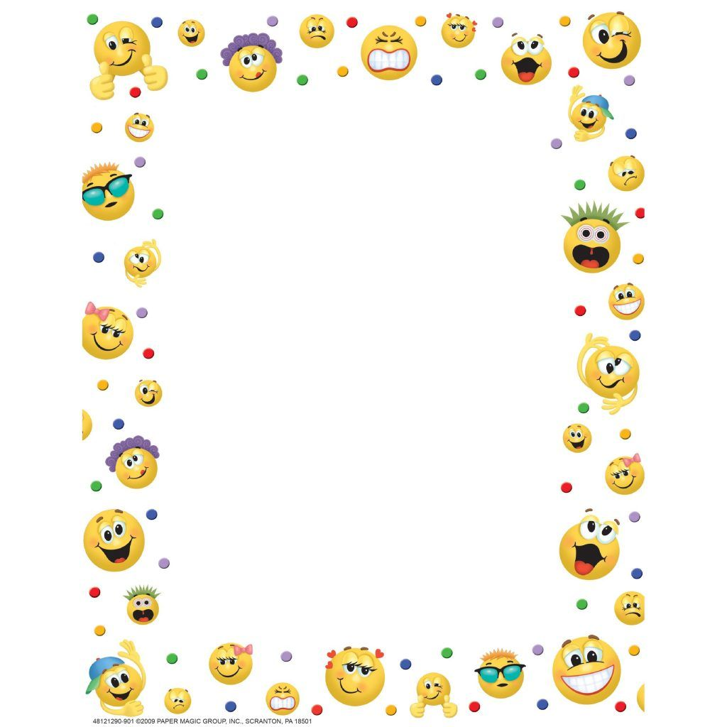 28+ Collection Of Emoji Clipart Border.