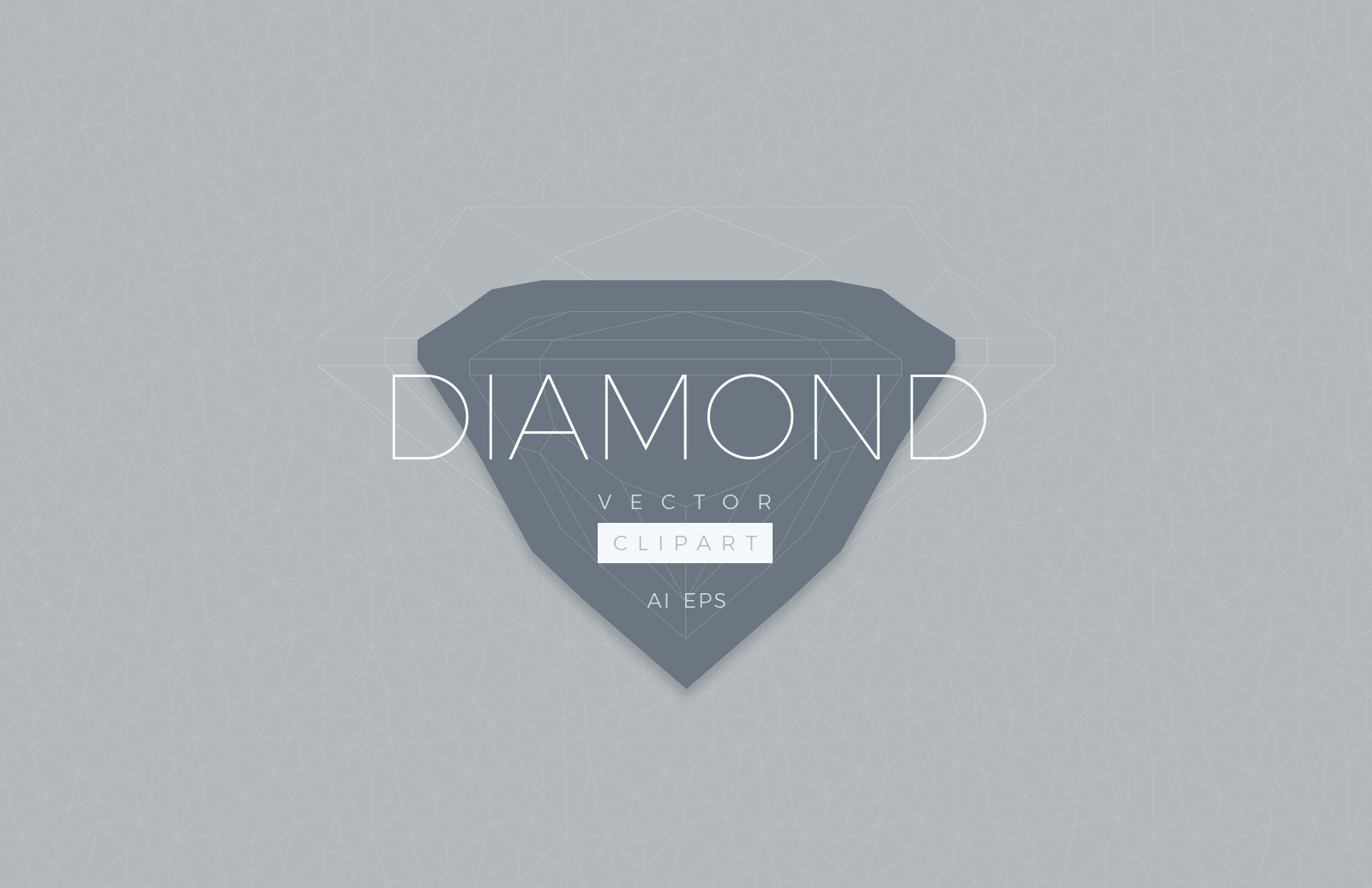 Diamond Vector Clipart.