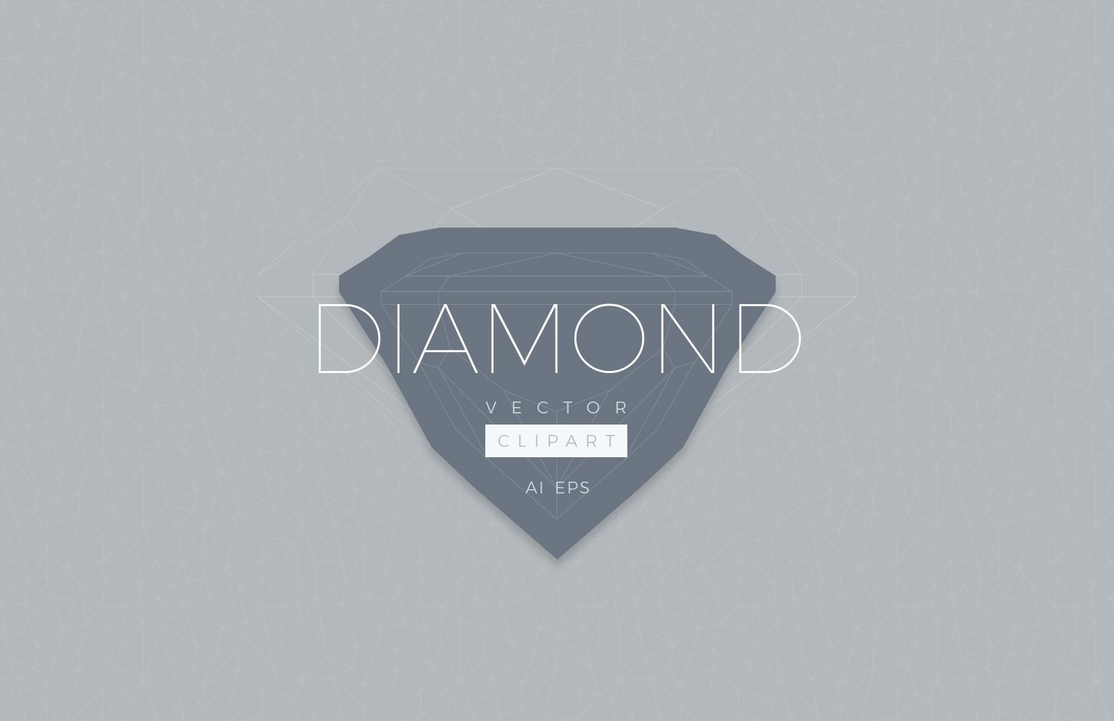 Diamond Vector Clipart.