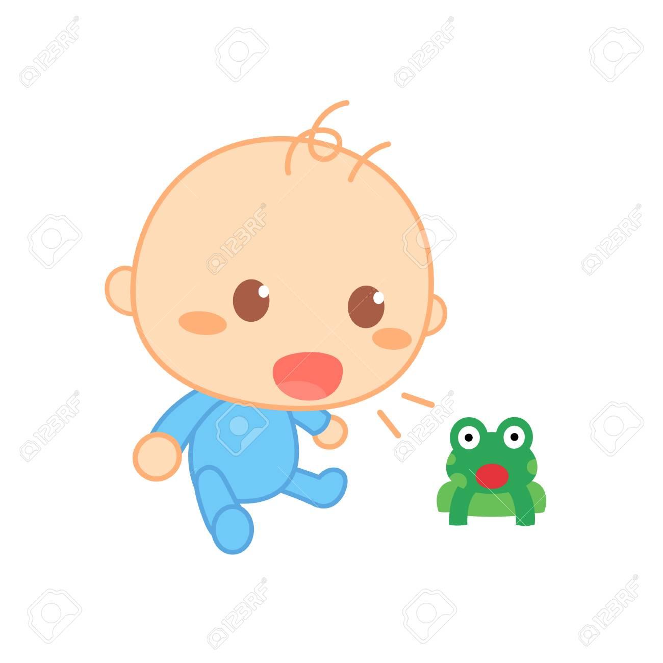 Baby imitate sounds. Cute baby milestone..