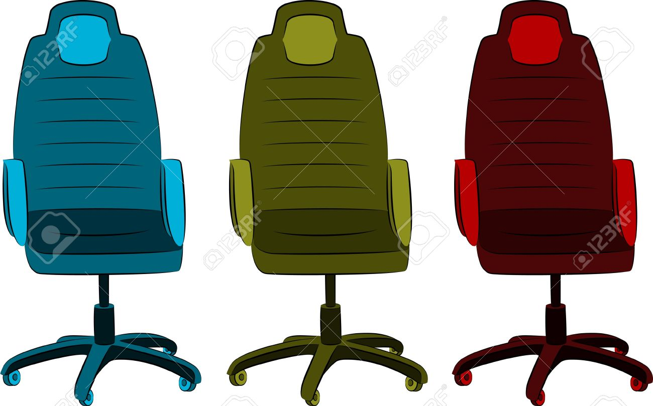 The Office Chair From Imitation Leather Stock Photo, Picture And.