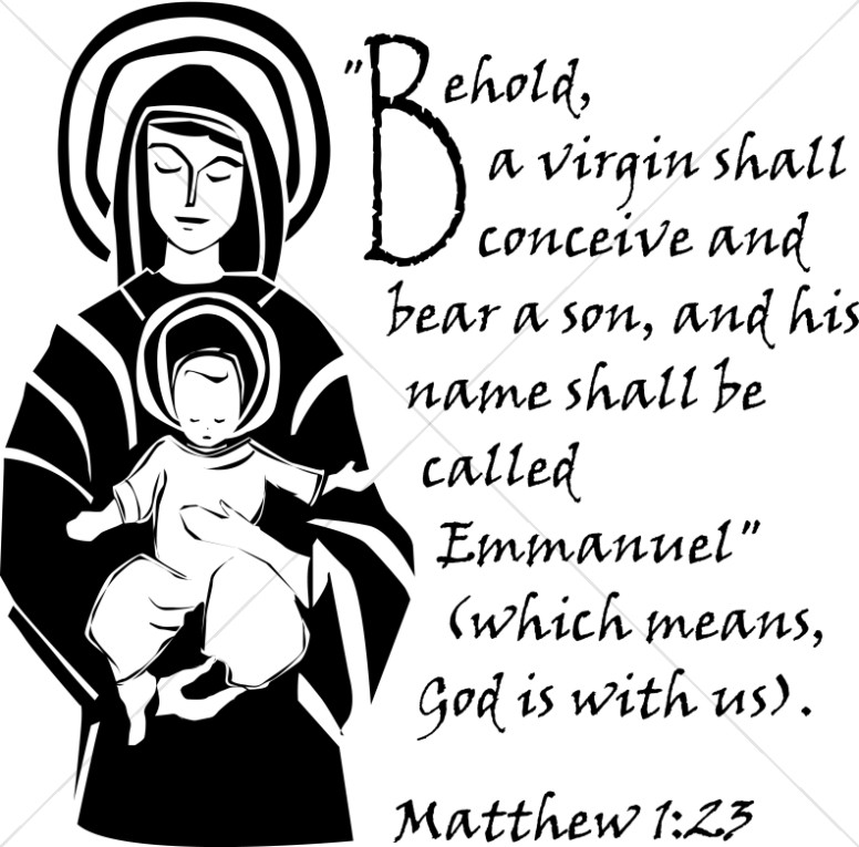 The Immaculate Conception Verse from Matthew.