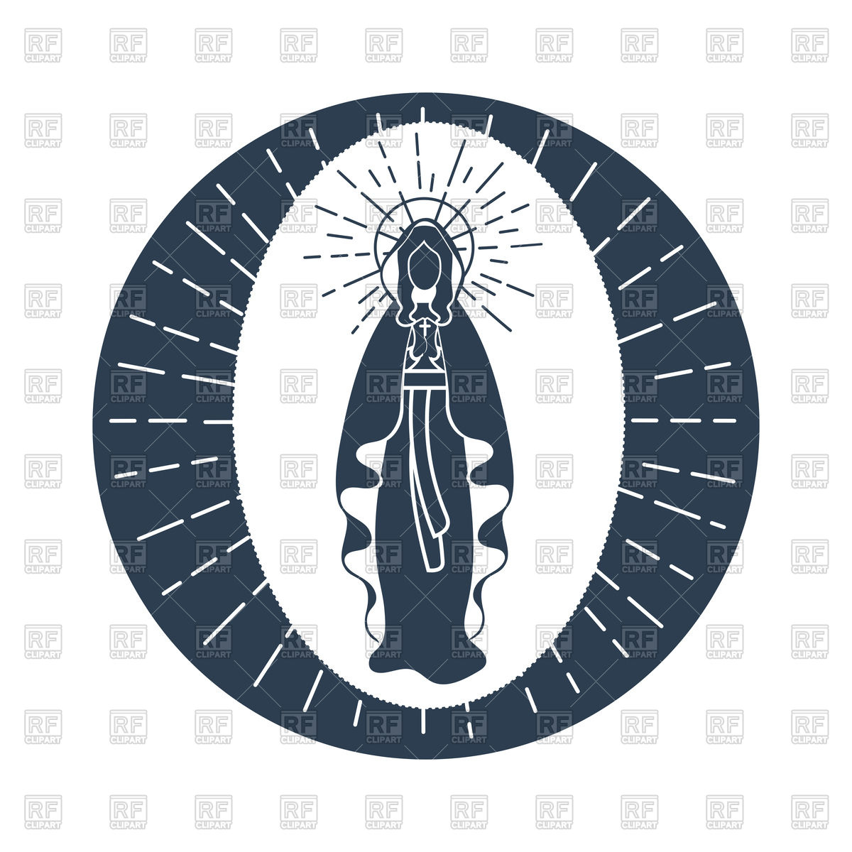Greeting card for Immaculate Conception of Virgin Mary Stock Vector Image.