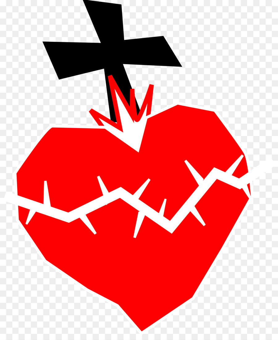 Sacred Heart Immaculate Heart of Mary Clip art.