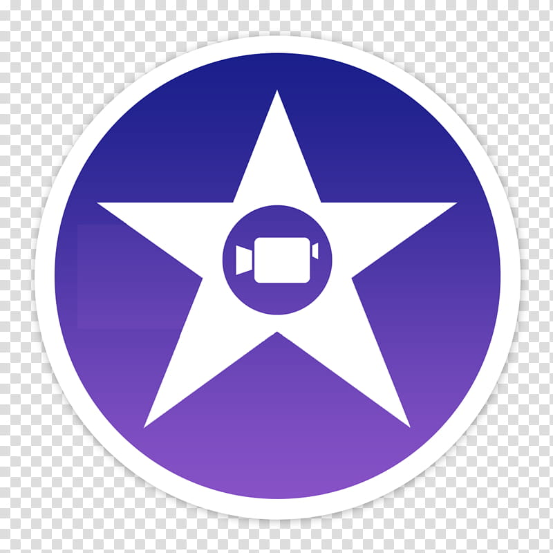 Flader default icons for Apple app Mac os X, iMovie, purple.