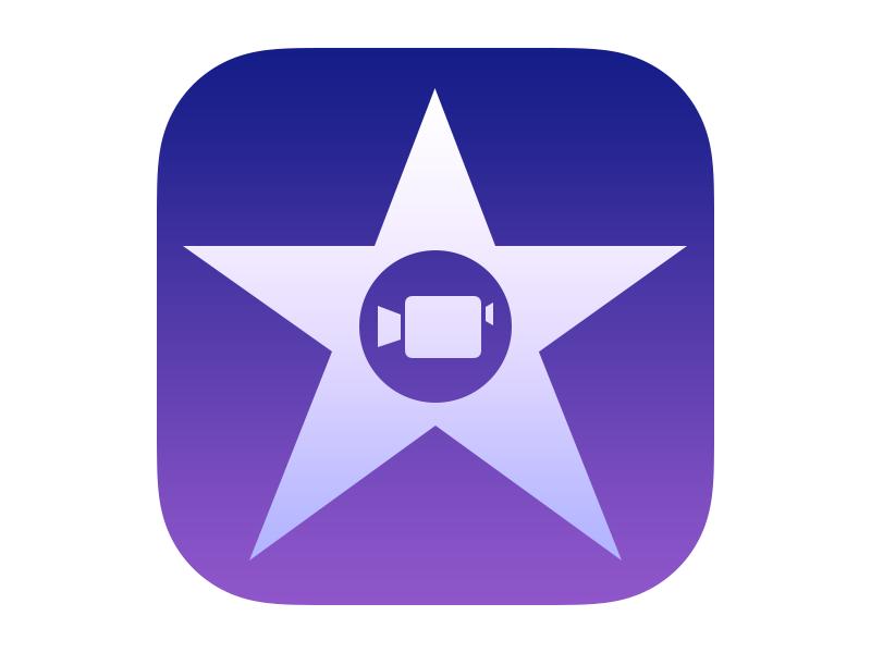 Apple iMovie for iOS App Icon (2013) by Robert Padbury on Dribbble.