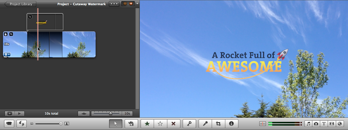 Create iMovie titles or watermarks with creative overlays.