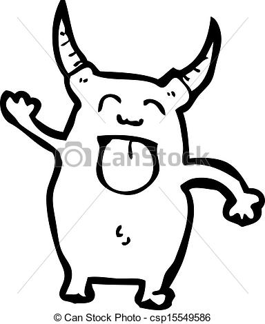 Vector of cartoon little imp csp15549586.