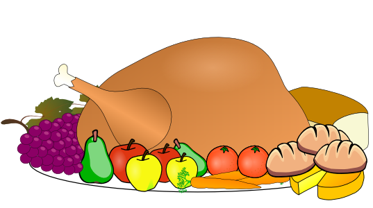 Thanksgiving Meal Clipart.
