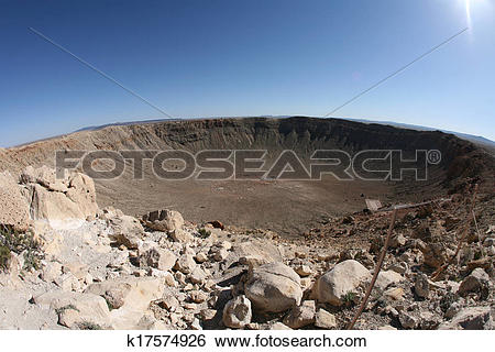 Stock Images of meteor impact crater Winslow Arizona USA k17574926.