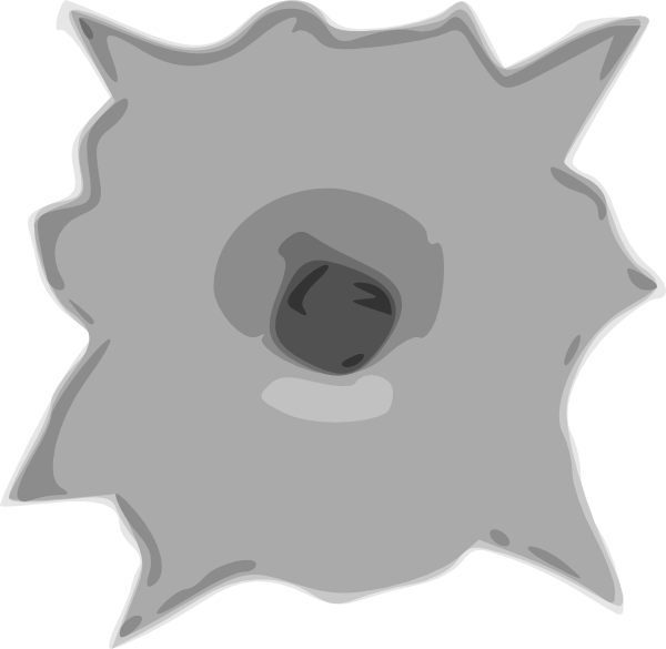 Bullet Hole Clip Art at Clker.com.