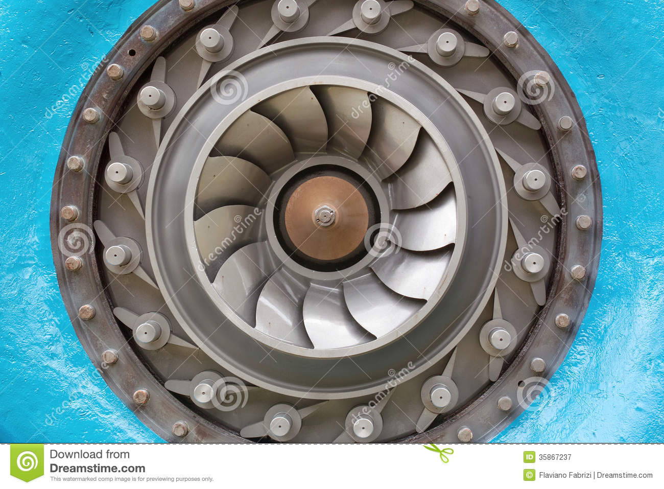 Francis Turbine, The Impeller Royalty Free Stock Photography.