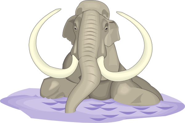 Mammuthus Imperator In Water Clip Art at Clker.com.
