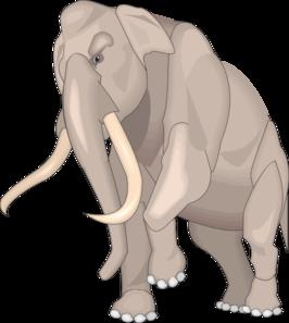 Walking Mammuthus Imperator Clip Art at Clker.com.