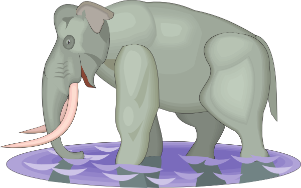 Mammuthus Imperator Walking In Water Clip Art at Clker.com.