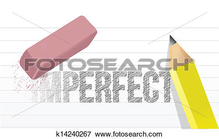Clip Art of converting imperfect to perfect concept k14240267.
