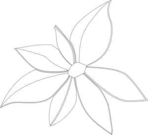 Flower Outline Imperfect Clip Art at Clker.com.