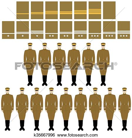 Clip Art of Insignia and uniform of the Imperia k35667996.