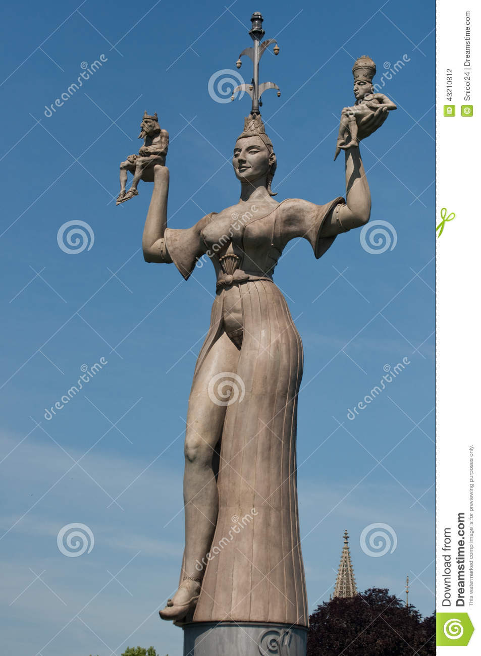 Konstanz, Germany: Imperia Statue Stock Photo.