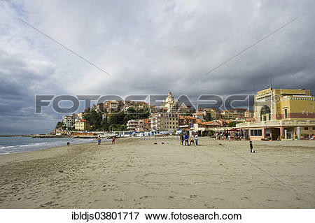 "Picture of ""Beach in Porto Maurizio, Imperia, Province of Imperia."