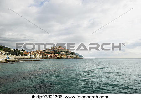"Stock Images of ""Townscape, Porto Maurizio, Imperia, Province of."