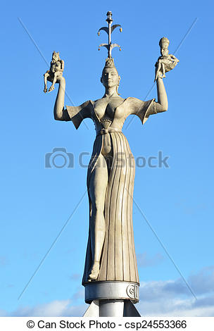 Stock Image of Imperia statue in Konstanz, Germany csp24553366.