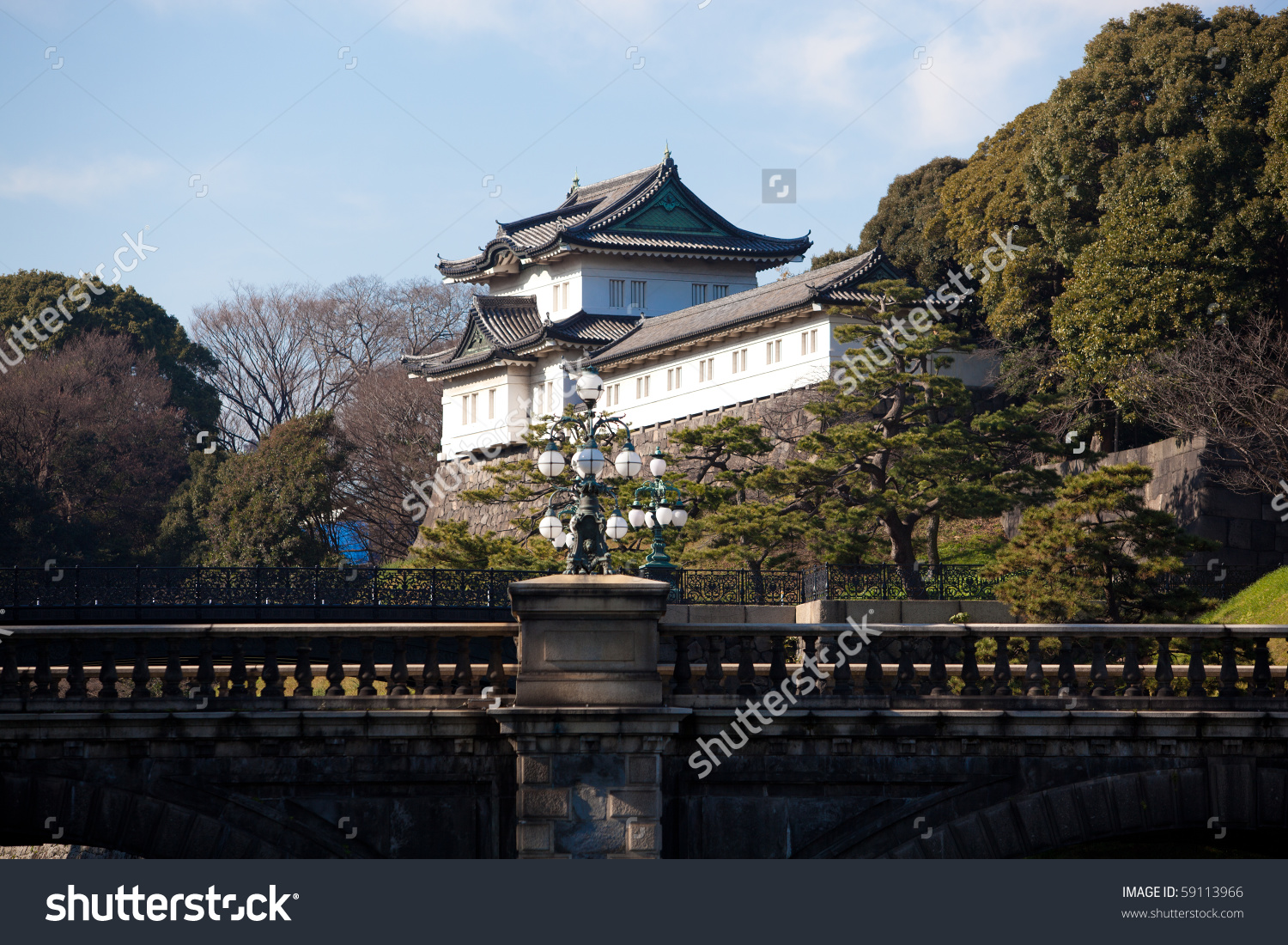 Japanese Imperial Palace Tokyo Japan Stock Photo 59113966.
