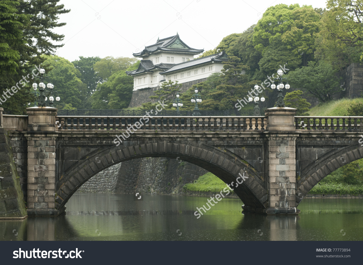 Tokyo Imperial Palace Main Residence Emperor Stock Photo 77773894.