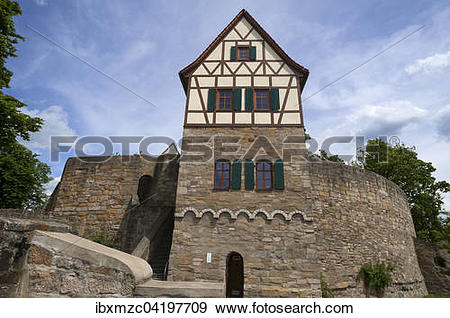 Stock Photograph of Former residential tower of a high medieval.