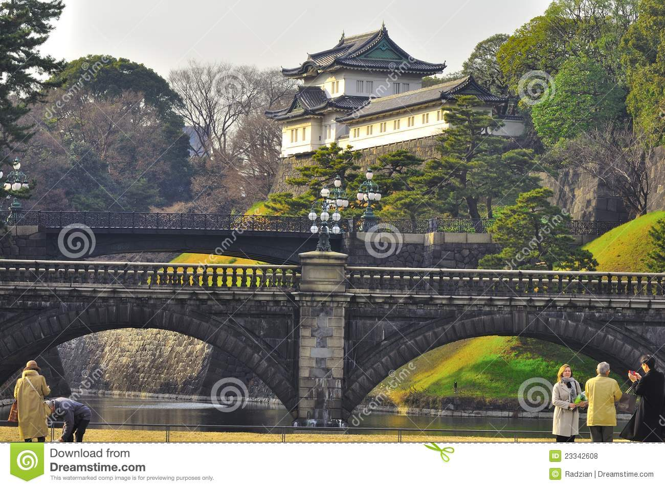 Imperial Palace Japan Editorial Stock Photo.
