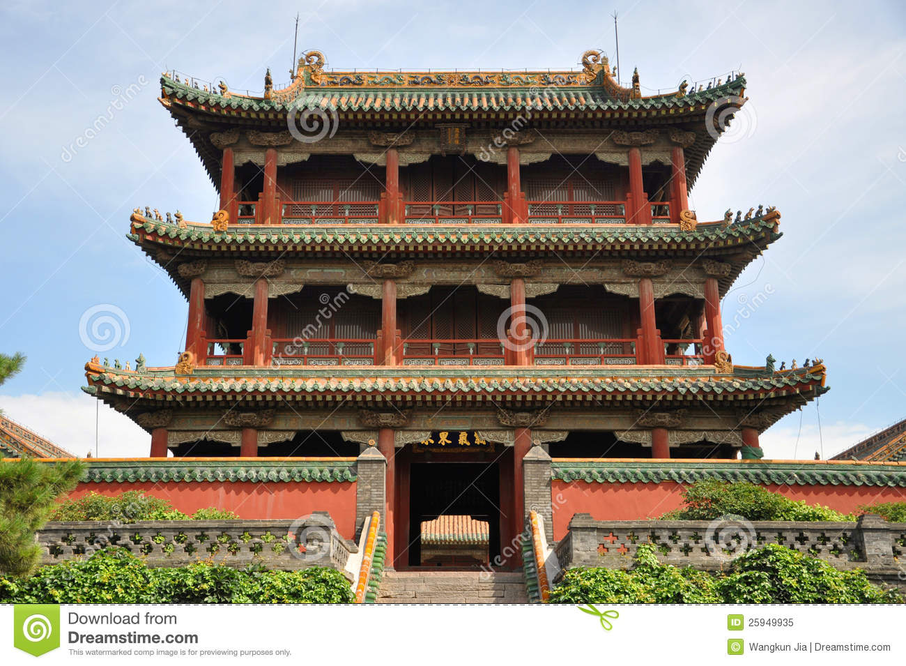 Phoenix Tower, Shenyang Imperial Palace, China Royalty Free Stock.