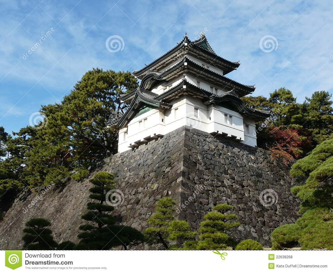 Castle Keep At Imperial Palace In Tokyo Japan Royalty Free Stock.