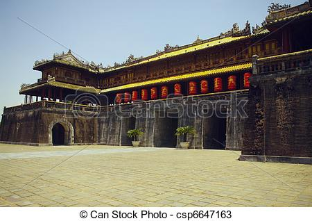 Stock Photos of Main gate of the imperial city in H.