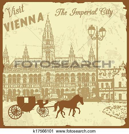 Clipart of Visit Vienna the Imperial City poster k17566101.