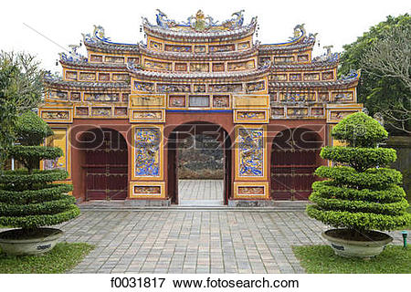 Picture of Vietnam, Hue, Imperial city. f0031817.