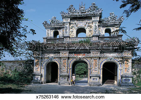 Stock Images of Hien Nhan Gate (Gate of Humanity), Imperial City.