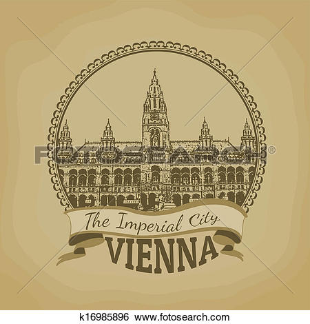 Clip Art of Vienna ( The Imperial City) postcard k16985896.