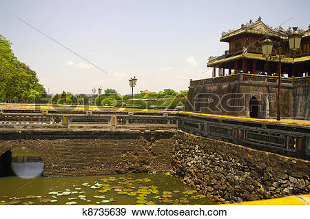 Stock Photograph of Main gate of the imperial city k8735639.