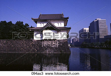 Stock Photo of View of the Imperial Palace Tokyo Japan Asia 094as3.